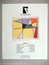 Roy Lichtenstein Art Gallery Exhibit PRINT AD - 1990 ~~ Imperfect Print Series