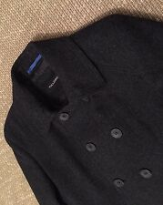 Men's Charcoal Grey Full Circle Pea Coat Size Small 36 Inch Chest. Unwanted Gift