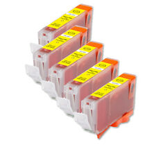 5 NEW YELLOW Ink Cartridge + smart chip for Canon CLI-8Y iP4300 IP4500 MP530