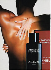 PUBLICITE ADVERTISING 014   1989    CHANEL  parfum ANTAEUS
