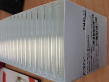 250 x Glass Test Tubes (box) - Pyrex- 12mm x 75mm - with push caps - UK SELLER