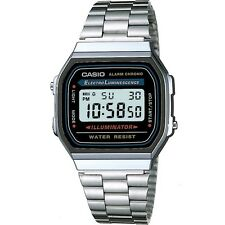 Casio Unisex Stainless Steel Digital Watch A168WA-1Y