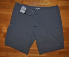 NWT Womens FREE COUNTRY Periwinkle Gray Board Swim Shorts Size XL