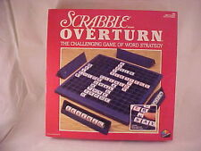 1988 Coleco Scrabble Overturn Challenging Game of Word Strategy 100% Complete