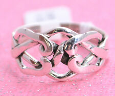 4 LAYER VERY PRETTY PUZZLE Ring All Genuine Sterling Silver.925 Stamped Size 9