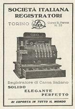 W3586 Società Italiana Registratori di Cassa - Pubblicità 1930 - Advertising