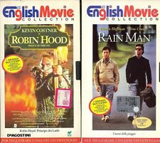 English Movie Collection: ROBIN HOOD e RAIN MAN - 2 VHS Originali in Inglese
