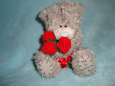 "Me To You Carte Blanche Teddy Bear with red roses 5.5"" tall"