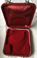 Small Red Velvet Jewellery Presentation Storage Box For Jewellery Sets, etc