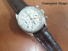 GIRARD PERREGAUX curved lug end padded crocodile watch strap Cheergiant straps