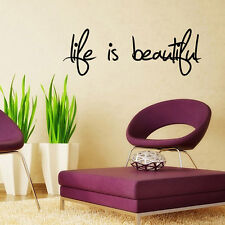 "Wall Quote Removable Stickers Decal Art Mural Home Decor- ""Love Is Beautiful"""