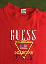 True Vintage 80s Classic GUESS Georges Marciano Embroidered USA T-Shirt OSFA