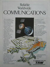 11/1981 PUB TRW DEFENSE SPACE FLEETSATCOM SATELLITE UHF PENTAGONE AD