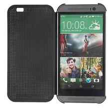 Genuine Official Black HTC One M8 Dot View Flip Case Cover 2014 Model HC M100