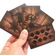 Wood Deck of Cards Playing Cards Unique Wooden Graphics Western Cowboy Rustic