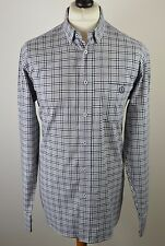 Stunning men's Henri Lloyd black & grey check long sleeved shirt large 46""