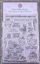 DAWN BIBBY DESIGNS A5 Clear Stamps SWEET KIT STAMP KIT Gingerbread House 13388
