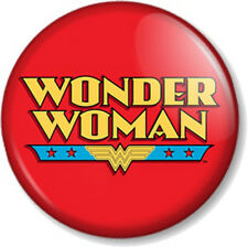 Wonder Woman Logo 2 25mm Pin Button Badge Lynda Carter Comic Retro TV Superhero
