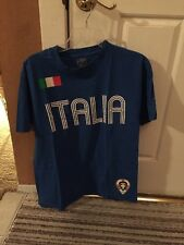 USED Simply For Sports Italia Shirt Blue Size Small Sports Short Sleeve Italy