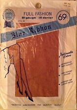 Vintage Blue Ribbon  Fully Fashioned DuPont nylon Stockings Red Fox 51 Gauge