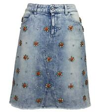 GUCCI Crystal-Embellished Stretch Denim Skirt Recreated After 1999 size 40 - 4