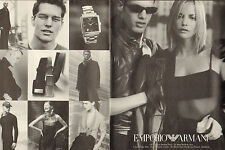 Publicité Advertising 1998  (Double page)  Montre EMPORIO ARMANI