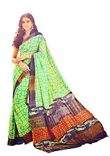 Digital Printed Georgette Saree Multi Color Casual Wear