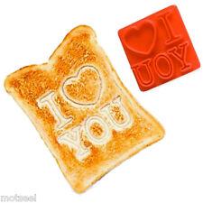 Te Amo Tostadas Sello Desayuno Pan De Alimentos Marca sándwich divertido día de San Valentín