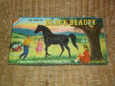 VINTAGE TRANSOGRAM CHILDS 1968 BLACK BEAUTY HORSE BOARD GAME VERY GOOD CONDITION