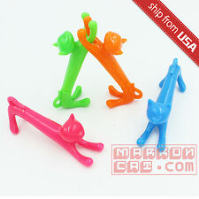 Lot 4pcs Cat Fun Figure Ball Point Pen Stand novelty Gift Cute fun Office Kawaii