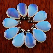 10Pcs Beautiful Opal Opalite Teardrop Pendant Bead ABBX01(9)