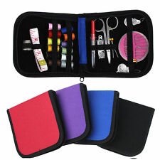 Portable Sewing Kit Case Travel Home Handcraft Needle Thread Tape Scissor Button