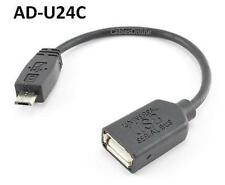 "4"" USB A-Type Female to Micro-B 5-Pin Male Adapter Cable - CablesOnline AD-U24C"
