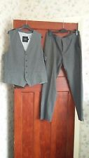 TOP MAN waist coat 44,trousers 36R, grey, used