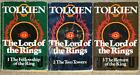 LORD OF THE RINGS TRILOGY Tolkien UNWIN PB MATCHED 3 VOL BRITISH EDITION Lot 43