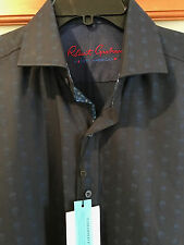 "NWT MEDIUM Robert Graham ""Modern American"" LS button front shirt, skull design M"
