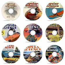 Vintage Popular Science Magazine, Our 9 DVD Complete Set, 1872-1963, 1086 issues