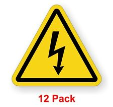 ARC Flash Safety / Warning Label Electrical Shock Hazard Decal (12 Pack)