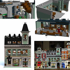 LEGO Modular Haunted House PDF instructions alternate custom 10228 10230 MOC B