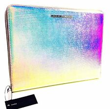MARC JACOBS ELECTRONIC TABLET ZIPPERED CASE FOR IPAD.SILVER HOLOGRAPHIC.NWT.