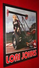 Rare Lori Johns NHRA signed autographed Jolly Ranger Top Fuel Dragster Poster