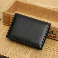 Men's Genuine Leather Wallet Bifold ID Credit Card Holder Mini Purse Money Clips