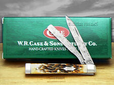 CASE XX Damascus Amber Bone Baby Doctor Pocket Knives
