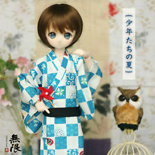[Infinite Love] LIMITED 少年たちの夏 blue summer yukata MSD 1/4 size BJD doll use