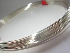 Plata Esterlina 925 de la mitad de alambre redondo 20gauge 0.81 mm Suave 5 Pies