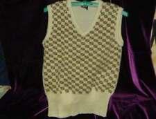 60s 70s vintage clothes mens HIPSTER PREPPY acrylic knit vest SQUARES S