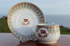 WHITE STAR LINE RMS OLYMPIC TITANIC ERA 1ST CL WISTERIA TURQUOISE CUP & SAUCER