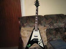 westwood flying v electric guitar and padded flying v guitar bag