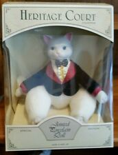 Heritage Court Special Collectors Edition Jointed Porcelain Doll White Cat