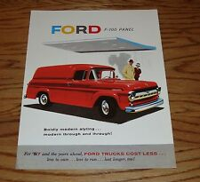 1957 Ford Truck F-100 Panel Foldout Sales Brochure 57